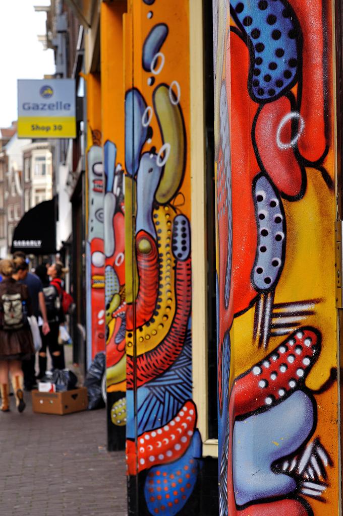 Jordaan Amsterdam graffiti