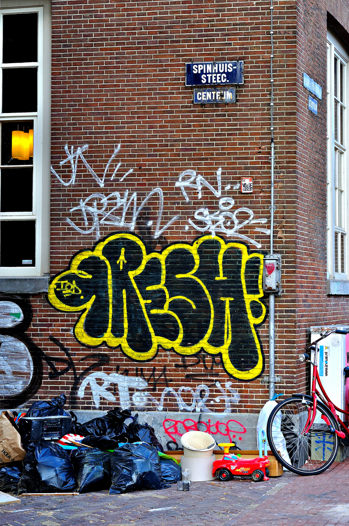 amsterdam art abstract fresh street