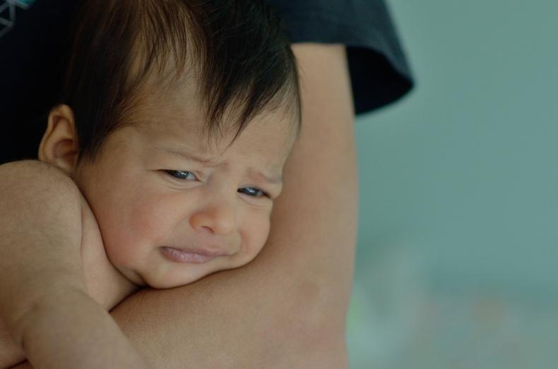 upset newborn baby boy