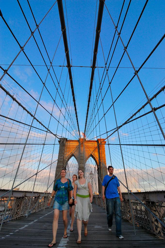 sunset new york city people watching wide angle lens nikon