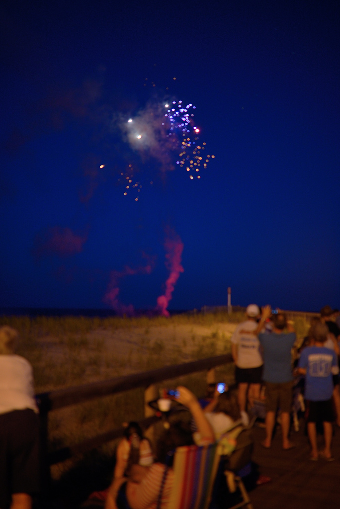 bethany beach night lights 35mm f 1.4 boardwalk july 4th
