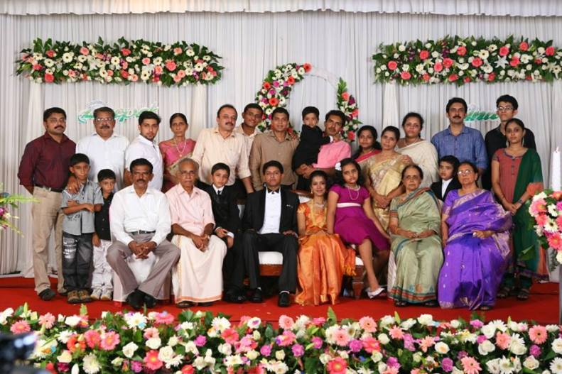 catholic christian malayalee bride groom family reception