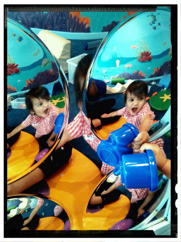 babies baby play reflection indoor