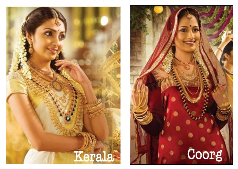 kerala bride indian south india coorg gold jewelry saree beauty fashion